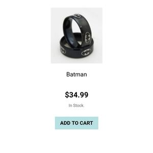 Batman stainless steel rings